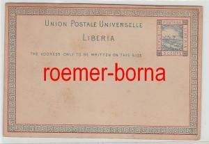 75154 seltene Ganzsachen Postkarte Liberia 3 Cents vor 1900