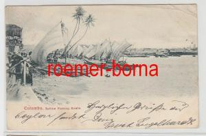 73730 Ak Colombo Sri Lanka Native Fishing Boats Boote der Ureinwohner 1906