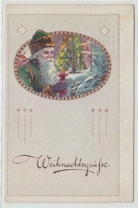 65140 Weihnachtsgrüsse Ak Weihnachtsmann 1920