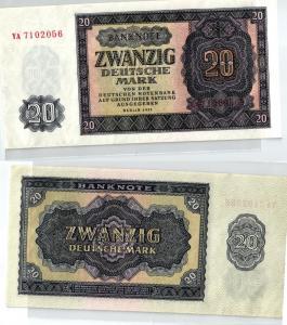 20 Mark Banknote DDR Deutsche Notenbank 1955 kassenfrisch (124008)