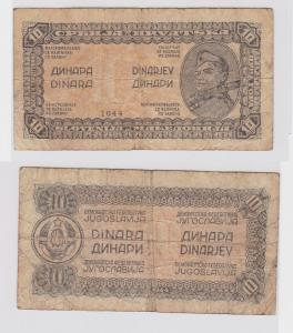 10 Dinar Banknote Jugoslawien 1944 (121634)