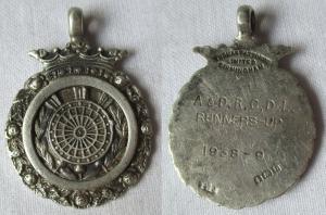 Silberner Anhänger Darts Wettbewerb A&D.R.C.D.L. Runners-Up 1938-39 (119268)