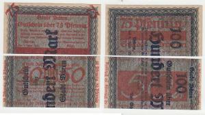 2 Banknoten Notgeld Stadt Düren 1921 (113574)