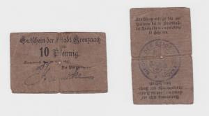 10 Pfennig Gutschein Notgeld der Stadt Kreuznach 1917 (117625)