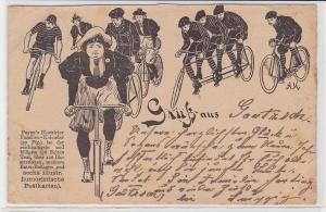 71365 Reklame AK Paynes Illustrierter Familien-Kalender, Gruss aus Gautzsch 1899