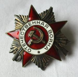 Orden Großer Vaterländischer Krieg UdSSR Sowjetunion Silber Nr. 6039215 (133232)