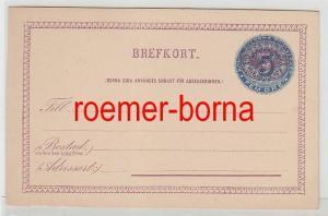 40518 seltene Ganzsachen Postkarte Schweden 5 Öre vor 1900