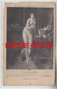 72100 französische Künstlerkarte Grafik eines erotischen Holzschnittes um 1910