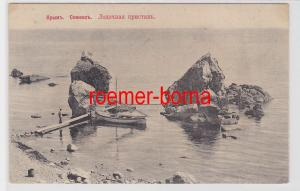 84782 Ak Krim Simejis - Крымъ Симеизъ Лодочная пристанъ um 1910