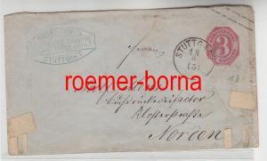 75282 alter Ganzsachen Brief Württemberg 3 Kreuzer Stuttgart 1871