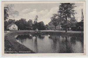 70487 Ak Welzow Niederlausitz Schwanenteich und Gasthof 1939