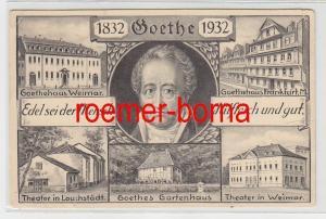 74338 Mehrbild Ak zum 100. Todestag von Goethe 1932