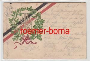 41028 geprägte Ak mit Lorbeer- und Eichenlaub Turner-FFFF 1903