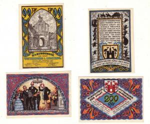 2 Banknoten Notgeld Stadt Wittenburg in Mecklenburg 1922 (112736)