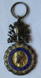 Frankreich Orden Militärmedaille Valeur et Discipline 1870 am Band (129593)