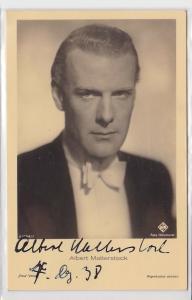 83776 Autograph Karte Deutscher Schauspieler Albert Matterstock 1938