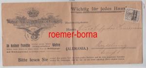 75964 Malaga Bodega Reklame Briefumschlag Deutsche Post in Marocco 3 Centimos
