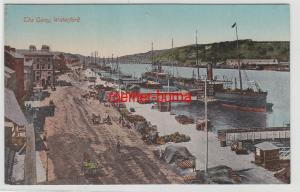 70787 Ak Waterford The Quay Hafenanlagen um 1910