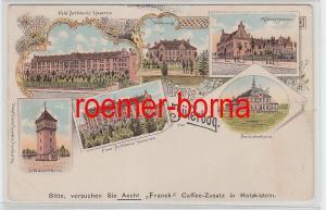 77932 Ak Lithografie Gruss aus Jüterbog Artillerie Kasernen um 1900