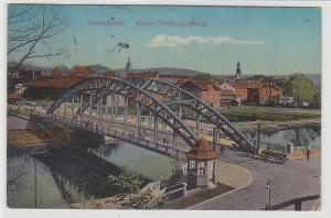71652 Ak Saarbrücken, Kaiser Friedrich- Brücke, 1913