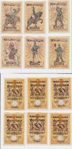 6 x 50 Pfennig Banknoten Notgeld Stadtsparkasse Potsdam 1921 (117356)