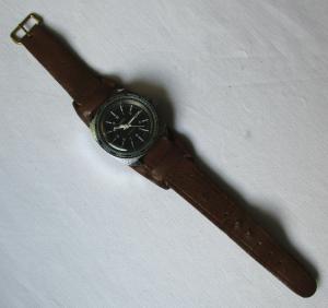 Ruhla Taucheruhr Weltzeitlünette Sammler Rarität Herren Uhr Handaufzug (109431)