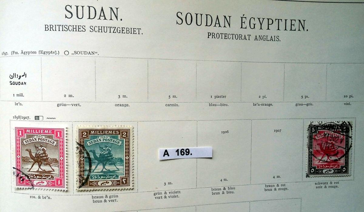 Kleine Briefmarkensammlung Afrika Britisches Schutzgebiet ab 1898 0
