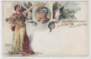 68429 Ak Lithographie Fürst Otto von Bismarck 1898
