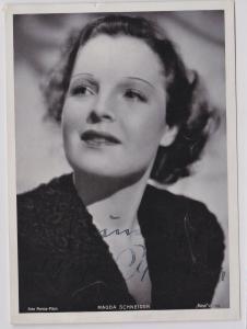 74085 Autograph Foto Deutsche Schauspielerin Magda Schneider um 1935