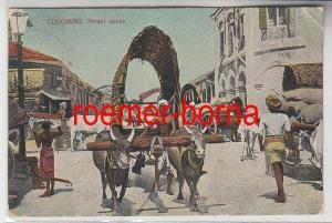 73403 Ak Colombo Sri Lanka Street scene Straßenszene 1908