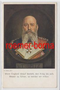86336 Künstler Ak Alfred von Tirpitz, Kriegspropaganda England um 1915