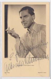 83252 Autograph Karte Deutscher Schauspieler Albrecht Schönhals um 1939