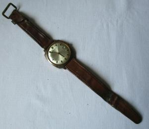 Elegante Glashütte Spezimatic 26 rubis Armbanduhr Automatik Uhr (101838)