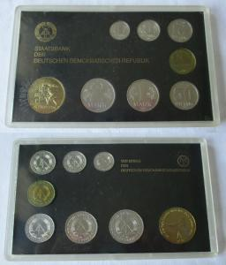 DDR Kursmünzensatz 1985 1 Pfennig -2 Mark KMS ST mit Medaille Schmelzen (124732)