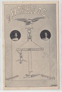 72952 Artisten Ak 2 Warellos Gymnastik Novellty um 1910