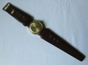 Elegante Glashütte Armbanduhr Handaufzug 17 rubis 50er Jahre (102414)
