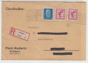 67907 Einschreibebrief von Stuttgart nach Borna 1931
