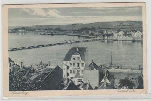 68733 Ak Sonderburg Dänemark Pontonbrücke um 1920