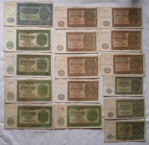 15 Banknoten Deutsche Notenbank DDR 1948 (115755)