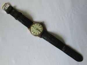 Elegante GUB Glashütte Armbanduhr Handaufzug 50er Jahre (105372)
