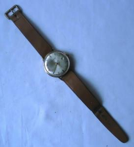 Alte vergoldete Herren Armbanduhr Marke Glashütte GUB  (104724)