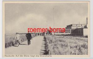 85352 Ak Heubude bei Danzig auf der Düne liegt die Strandhalle um 1930