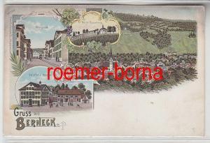 74380 Ak Lithografie Gruss aus Berneck Gasthof z. Ochsen usw. um 1900
