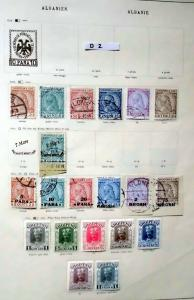 Schöne hochwertige Briefmarkensammlung Albanien 1913 bis 1937