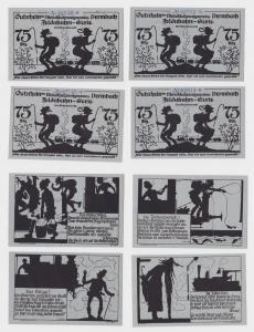 4 Banknoten Notgeld Rhönklubzweigverein Dermbach ohne Datum (1922) (122102)