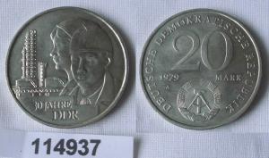 DDR Gedenk Münze 20 Mark 30.Jahrestag der DDR 1979 (114937)