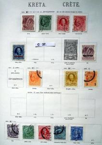 Seltene Briefmarkensammlung Kreta 1900 bis 1910