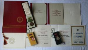 DDR Nachlaß Urkunden plus Orden KVP, GST Ernst Schneller 1955-1970 (132371)