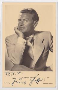 82920 Autograph Karte Deutscher Schauspieler Jupp Hussels um 1939
