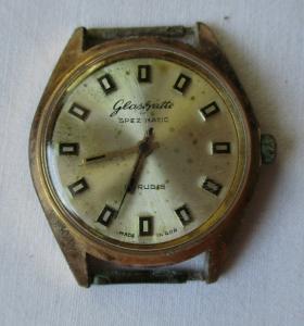 Elegante Glashütte Spezimatic 26 rubis Armbanduhr Automatik Uhr (103703)